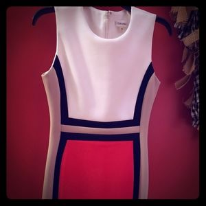 Calvin Klein color block dress